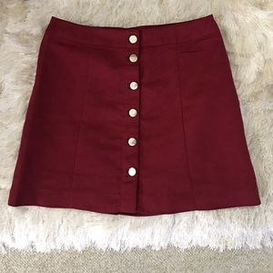 Maroon skirt from H&M